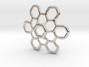Hex Petal - 4cm in Platinum
