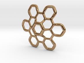 Hex Petal - 4cm in Polished Brass