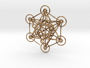 Metatron's Cube - 8cm - wStand in Polished Brass