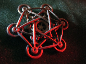 Metatron's Cube - 5cm in Polished Bronzed Silver Steel