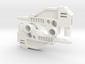 CW 'GROOVE' Guns (Twin) inspired by G1 Override in White Strong & Flexible Polished