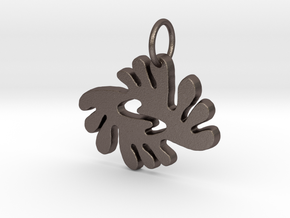 BI NKA BI (Adinkra Symbol of Peace and Harmony) in Polished Bronzed Silver Steel