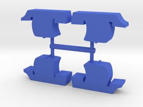 Game Piece, Medieval Cog 4-set in Blue Processed Versatile Plastic