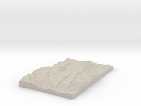 Model of Gamskogelhütte in Natural Sandstone