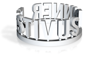 DRAW Festivus - Festivus Dinner ring in White Strong & Flexible