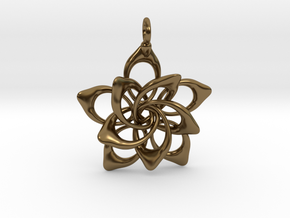 Petal Rings 5 Points - 2 Tiers - 3cm - wLoopet in Polished Bronze