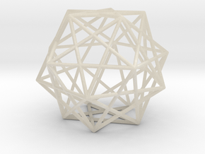 Expanded Dodecahedron in White Acrylic