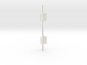 Outside Corner Bar V3 in White Natural Versatile Plastic