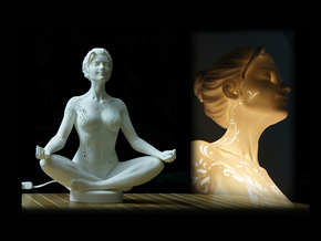 Meditation 30cm  in White Natural Versatile Plastic