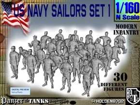 1-160 USN Modern Sailors Set1 in Smoothest Fine Detail Plastic