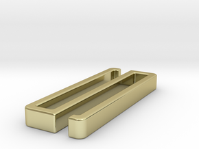 Belt clip, open. T41x5, shown: brass. in 18k Gold
