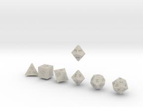 FUTURISTIC innies sharp dice in Natural Sandstone