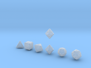 QUADRANT Bevel Outies dice in Smooth Fine Detail Plastic