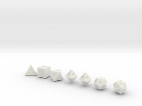 World's Smallest Dice? in White Natural Versatile Plastic