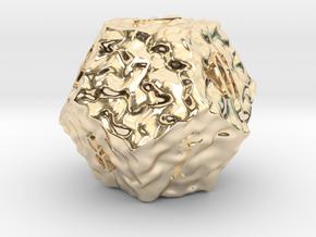 ELDRITCH ROUGH d12 in 14k Gold Plated Brass
