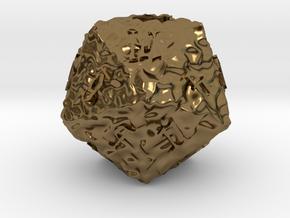 ELDRITCH ROUGH d20 in Polished Bronze