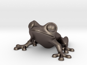 SuperTreefrog - 3D Printing Classic Designer Toy  in Polished Bronzed Silver Steel