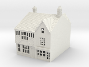 RNS-1 N Scale British town buildings 1:148 in White Strong & Flexible
