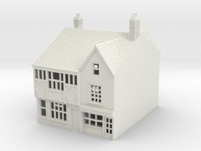 RNS-1 N Scale British town buildings 1:148 in White Natural Versatile Plastic