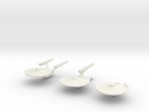 3 Starfleet Ships   small in White Strong & Flexible