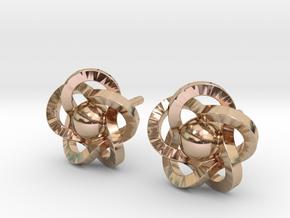 Flower Earrings in 14k Rose Gold Plated Brass