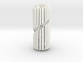 Spiral Column Lamp V1 in White Processed Versatile Plastic