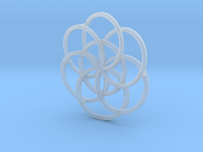 Seed of Life - 4.6cm in Smooth Fine Detail Plastic