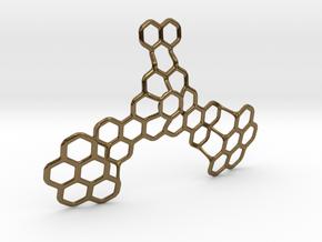 Hex Honeybird - 9cm in Polished Bronze