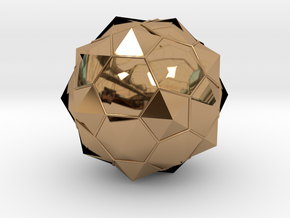 Truncated Icosahedron - aka Football in Polished Brass