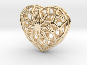 Valentine Heart - small in 14K Yellow Gold