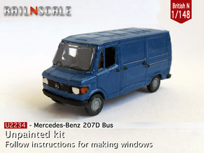 Mercedes-Benz 207D Bus (British N 1:148) in Smooth Fine Detail Plastic