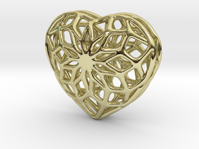 Valentine Heart - small in 18k Gold Plated Brass