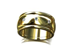 Mans Wedding Band CCW6 in Smooth Fine Detail Plastic