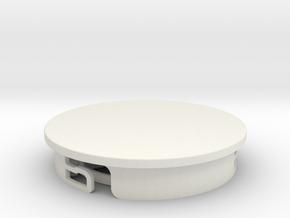 Hobbyist Base (pt 2/2) Suitable for custom Amiibo in White Natural Versatile Plastic