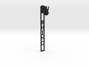 Rhino Bookmark in Black Natural Versatile Plastic