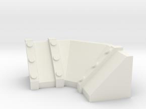 Trench Inner Turn section in White Natural Versatile Plastic
