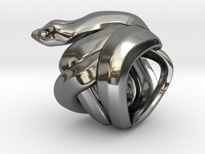Snake No.1 in Fine Detail Polished Silver