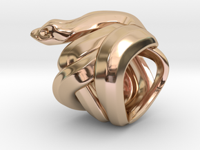 Snake No.1 in 14k Rose Gold Plated Brass