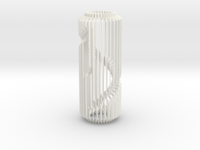 Spiral Column Lamp V2 in White Processed Versatile Plastic