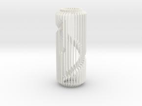 Spiral Column Lamp V2 in White Processed Versatile Plastic