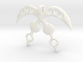 AKOFENA Symbol Jewelry Pendant  in White Processed Versatile Plastic