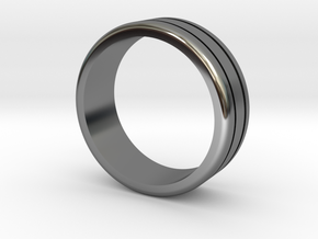 Classic wedding ring in Fine Detail Polished Silver