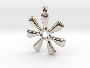 ANANSE NTONTAN Symbol Jewelry Pendant in Rhodium Plated Brass