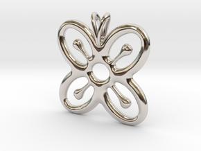BESE SAKA Symbol Jewelry Pendant in Platinum