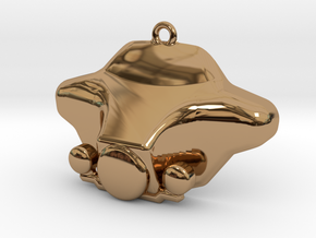 MOTORCYCLE-CHARM (BAGGER / STREET GLIDE W/LIGHTS) in Polished Brass
