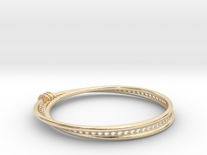 Möbius Snake Bracelet (Small) in 14K Yellow Gold