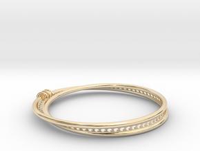 Möbius Snake Bracelet (Small) in 14k Gold Plated Brass