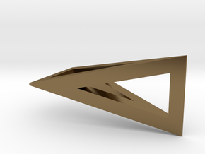 T-Prism Pendant in Polished Bronze