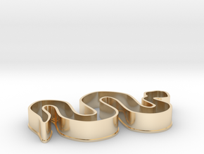 Snake Cookie Cutter in 14K Yellow Gold