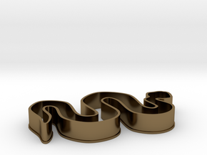 Snake Cookie Cutter in Polished Bronze